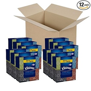 Kleenex Upright Facial Tissue (12 Bundles of 4 Boxes) 48 Total Boxes by Kleenex