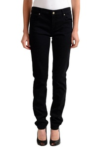 Versace Jeans Black Straight Legs Women's Jeans US 7 IT 29;