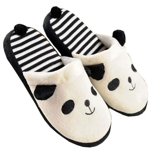 Anti-slip Cute Panda Home Slippers Shoes with tail (White)