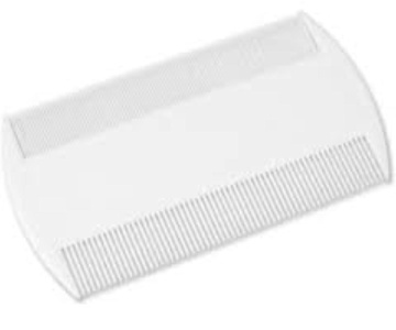 White Durable Double Sided Nit Combs for Head Lice Dectection Comb with Holder (also ideal for Pet Flea) its removes Nits, Lice and Fleas and eggs i.e. Grooming Hair Comb Fine Toothed Headlice Comb by Concept4u