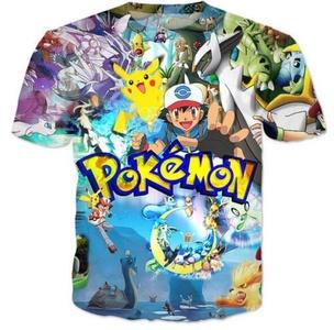 2016 Newest Fashion Womens/Mens Cartoon 90s Pokemon Picacho 3D Print T-Shirt