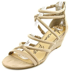 American Rag Calla Open Toe Synthetic Wedge Sandal, Beige, Size 9.0