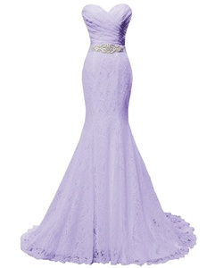 Angel Formal Dresses Women's Mermaid Sweetheart Lace Wedding Dress Evening Gown(4,Lavender)