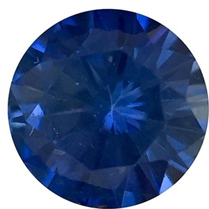 Engagement Precision Cut Blue Sapphire Gemstone, Round Shape, Grade A, 2.50 mm in Size, 0.07 Carats