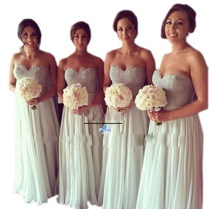 Aurora Bridal 2016 A line Lace Bridesmaid Dress Beaded Long Prom Grown White 26W