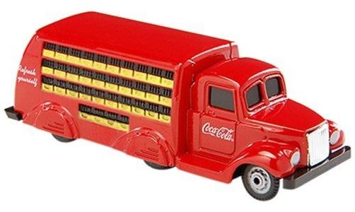 Motor City Classics 1:87 1937 Coca Cola Bottle Truck 6 wheeler red/yellow by Coca-Cola