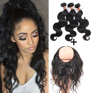 Tony Beauty Hair Brazilian 360 Lace Band Frontal Closure With Bundles 10