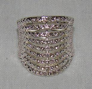 Avon Dancing Shimmer Ring Silvertone Size 8