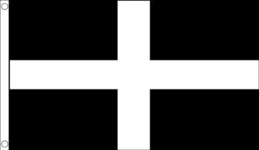 5ft x 3ft (150 x 90 cm) Cornwall Cornish St Piran County 100% Polyester Material Flag Banner Ideal For Pub Club School Business Party Decoration by Flag Co
