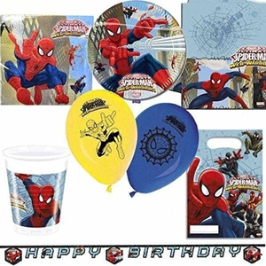 Spiderman Web Warriors Ultimate Party Kit for 8 by Party Bags 2 Go