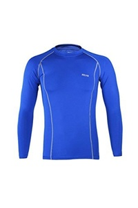 ARSUXEO Cycling Sports Running Fitness Bike Bicycle Baselayer Underwear Long Sleeve Jersey Quick Dry Shirt Men Bright Blue XXL by ARSUXEO