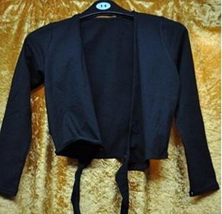 cad850c black capezio cotton wrap over cardigan xlge by Capezio