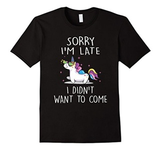 Men's Sorry Im Late I Didnt Want To Come T Shirt 3XL Black