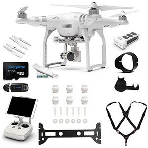 DJI Phantom 3 Advanced Quadcopter Drone with 2.7K HD Video Camera + (1) DJI Phantom 3 Intelligent Flight Battery + Expo-Deluxe Accessory Bundle