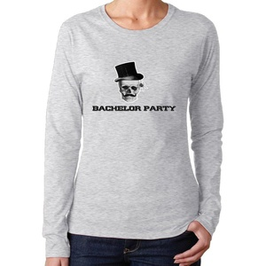Women's Steampunk Gothic Bachelor Party Long Sleeve T Shirts Novelty