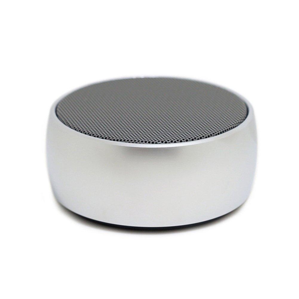 BS-01 Portable Mini Speaker Super Bass Hifi Stereo Wireless Bluetooth Speaker Subwoofer Loudspeakers Boombox-Silver