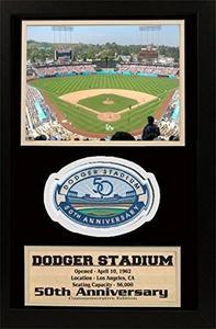 Encore Select 190-BBLASTD50ann 12 x 18 Patch Frame - Dodger Stadium 50th Anniversary