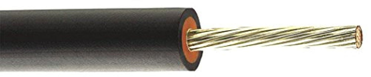 General Cable - 12411.711100B06 - Photovoltaic Wire, 500 ft., 10 AWG, Black, Tinned Coated Compressed Copper, Max. Voltage 600