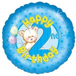 FOIL BALLOON-HAPPY 2nd BIRTHDAY-18 BALLOON by 1st Birthday Boy