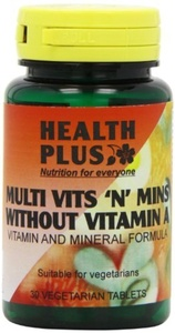 Health Plus Multi Vits 'n' Mins Without Vitamin A One-a-day Multivitamin Supplement - 30 Tablets by Health Plus