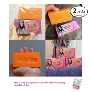 2 Units of White Aura Miracle Carrot Soap Brightening Bleaching Skin Care 160g.[Get Free Tomato Facial Mask] Z221