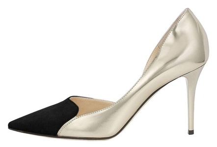 Maovii Women's Elegant Big Size High Heel Cap-Toe Muliti color Stitching Court Shoes 9.5 M US Black