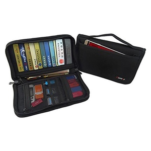 Travel Organizer Portable EVA Case Bag / Hard Protective Carrying Pouch Sleeve for U Disk, SD Card, USB Flash Drives, Memory Cards, Cables, Smartphone with Mesh Accessories Pocket - Black