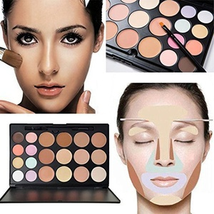 15 Colour Ultra Contour Palette Kit - Contouring Palette - Cosmetics Cream Contour and Highlighting Makeup Kit- Blemish Concealer Palette Urban colours nake by GLITZ COSMETICS