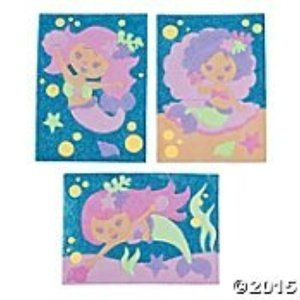 Mermaid Sand Art Picture Craft Kit (Makes 3) by fun
