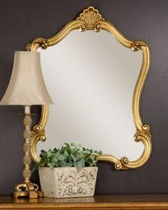 Gold Decorative Arch Wall Mirror 35