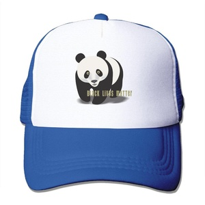 Black Lives Matter Panda Adult Adjustable Trucker Mesh Hat Baseball Cap RoyalBlue