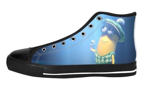 Women's High Top Full Canvas Upper Soft Inner Canvas Shoes Custom Despicable Me Design