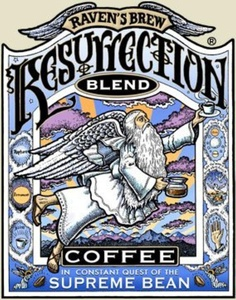 Ravens Brew Coffee BG17557 Ravens Brew Coffee Resurectn Blend Bn - 6x12OZ by Raven's Brew Coffee
