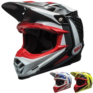 Bell Moto-9 Unisex-Adult Off Road Helmet (Vice Blue/Yellow, Small) (D.O.T.-Certified)