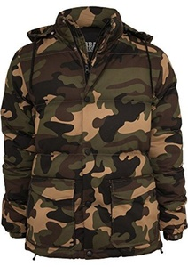 Urban Classics Camo Winter Jacket Jacket woodland XL by Urban Classics