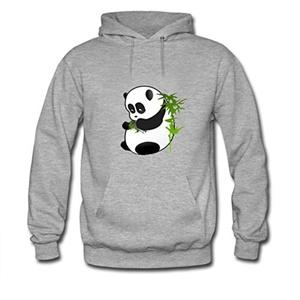 RichardSipple Mens Hoodies The panda bamboo Grey Size XL