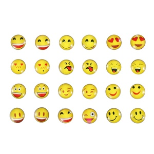 April Ya 12 Pairs Round Emoji Stud Earrings, Assorted Smiley Emoticon Earrings