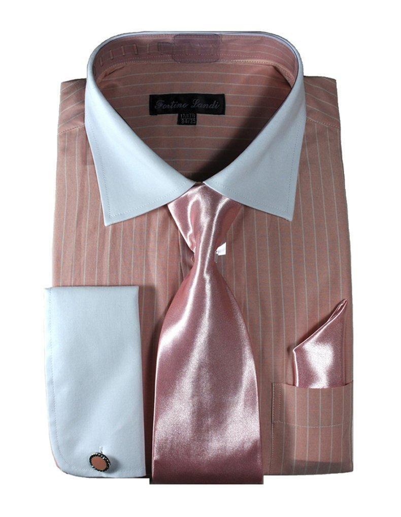 Online Store Fortino Landi Men 39 S Striped Dress Shirt With