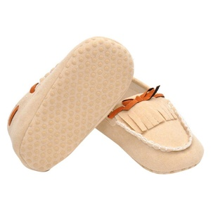 Inkach Newborn Baby Kids Tassel Prewalker Bowknot Toddler Soft Sole Shoes For Girls (11, Khaki)