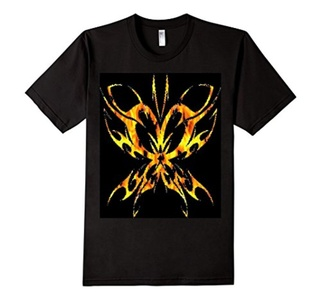 Men's Goth Butterfly T-Shirt  2XL Black