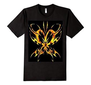 Men's Goth Butterfly T-Shirt  2XL Black