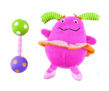 Non-sters Sassy Ci-Ci plush rattle with bonus polka-dot rattle by Non-sters