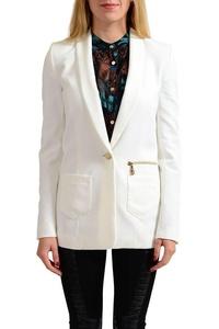 Versace Jeans White One Button Women's Blazer US S IT 40;