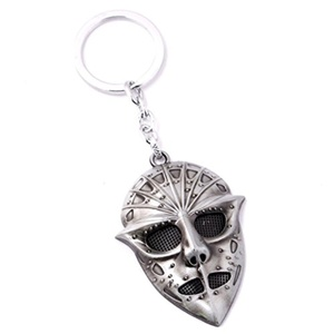 World of Warcraft - Undead Rogue Skeeve Sorrowblade Mask Keychain - Silver Color