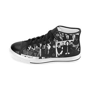 H-MOE Art My Chemical Romance Women's Canvas Shoes High-top Lace-up Breathable Sneakers,Black