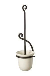 IRON CRAFT Blacksmith Handmade Hanged Toilet Brush (Black)