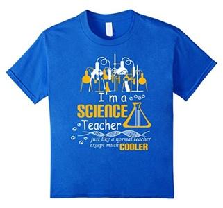 Kids Funny Science Teacher Tee Shirt Gifts I Am A Science Teacher 6 Royal Blue