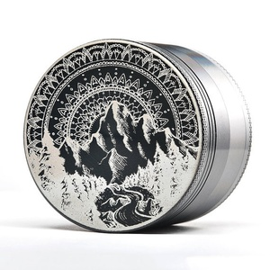 Aluminum Mountain Mandala Topboro Herb Grinder