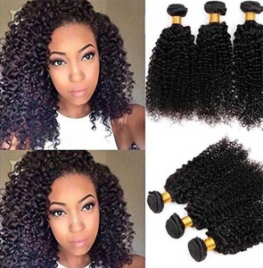 Top Hair 2 bundles 200g kinky curly Unprocessed Virgin Brazilian Curly Weaves Afro Kinky Curly Human Hair Extensions Natural Black Color