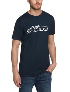 Alpinestars Men's Blaze Classic Tee Short Sleeve T-Shirt, Blue (Navy/White), X-Large by Alpinestars